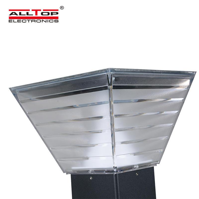 ALLTOP 3 years warranty round head 5w ip65 led post top solar garden light