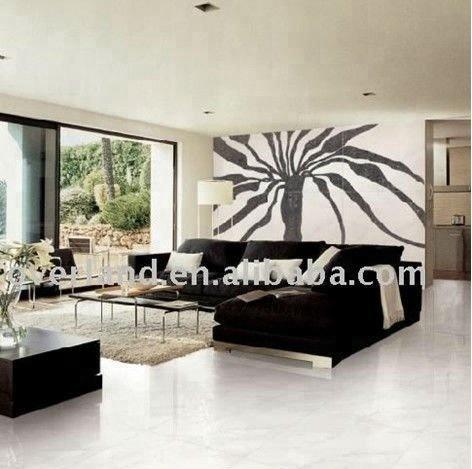 Modern white glossy floor tile