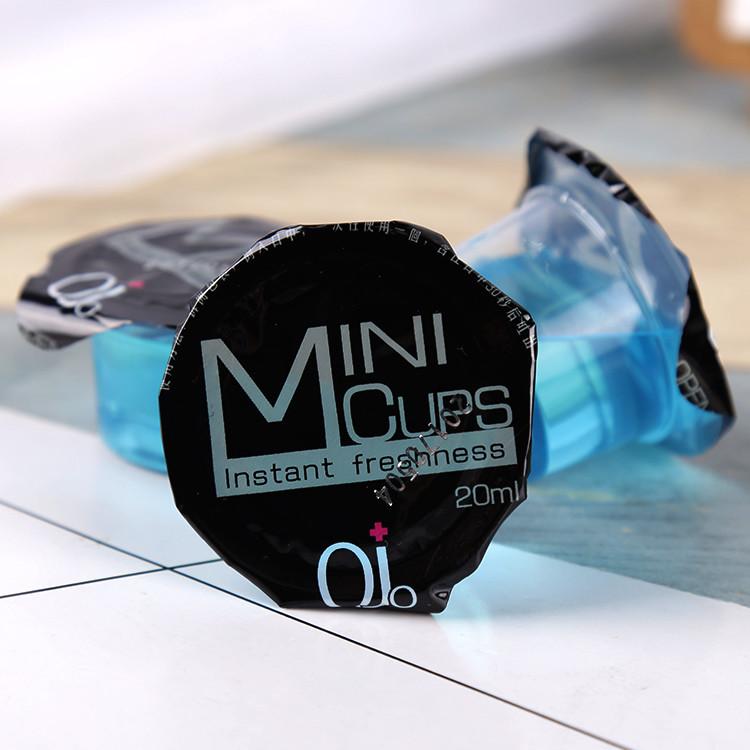 single use disposable mint flavor mouthwash