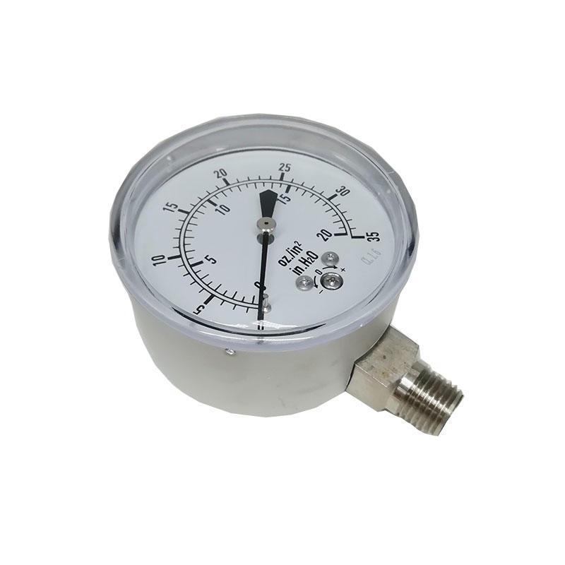 PGE20-2.5 Manometer Industry Stainless steel negative pressure mbar gauge digital pressure gauge
