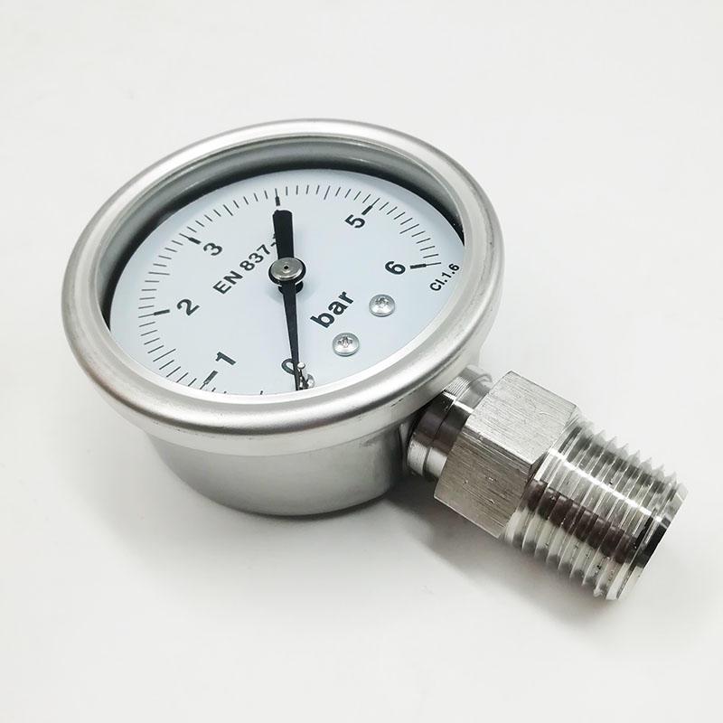 Industry Manometer PG20-2.5 Stainless steel Pressure Gauge Manometer air pressure gauge