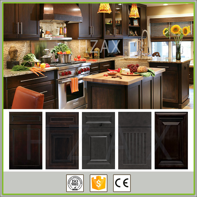 American Style Solid Wood espresso shaker Kitchen Cabinet Furniture Made in China