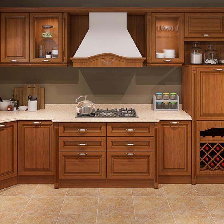 Solid Wood Custom Cabinet European Style Integral Kitchen Cabinet Door & Drawer Base Cabinets Modern Graphic Design Drawer SLIDE