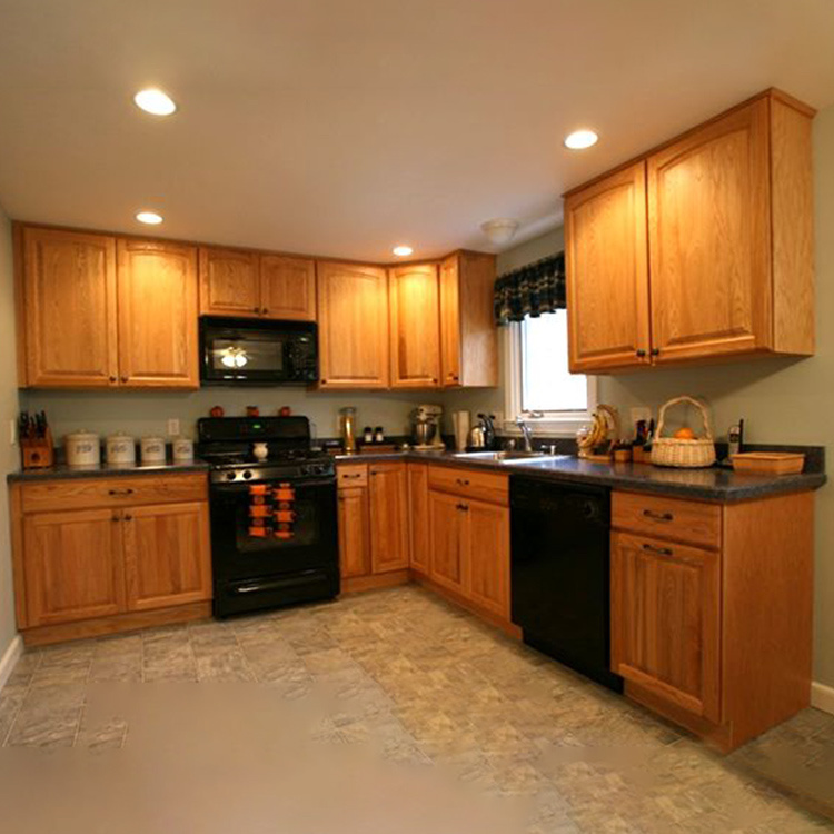 2021 New high end modelkitchen cabinets wood modular furniture