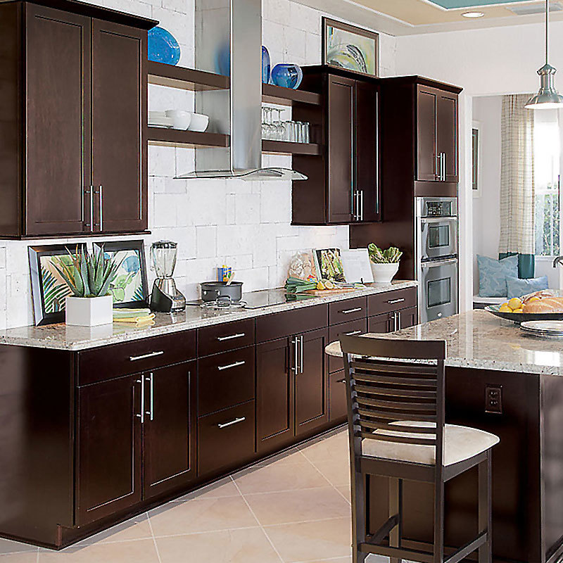 Solid wood manufacturers American cabinets mass production multi-function American style solid wood cabinets
