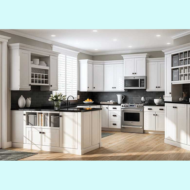 modern Solid Wood storage kitchen Cabinet cabinet designs made in China