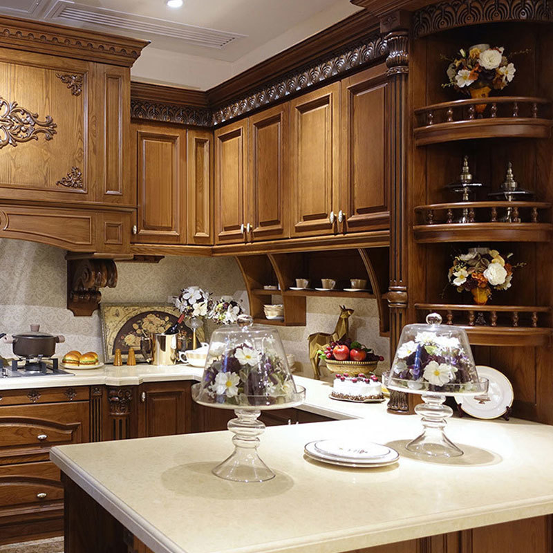 Kitchen cabinet manufacturers overall kitchen South American cherry solid wood cabinets American overall cabinets custom made