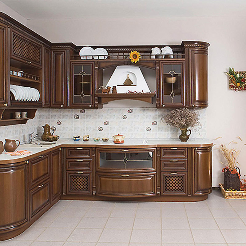 Solid wood cabinet home cabinet custom made solid wood American style kitchen cabinet customization