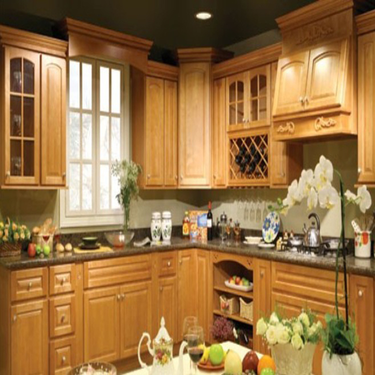 High Quality Online Design Solid Wood New Model Kitchen Cabinet