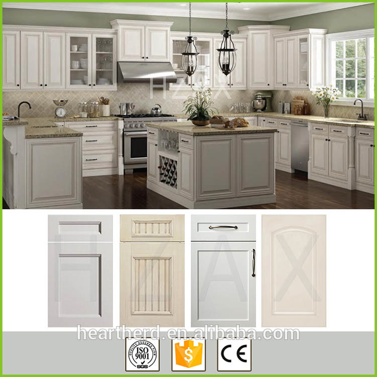 China manufacturer gloss solid wood traditional kitchen cabinet storage cupboard
