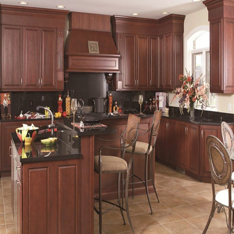 2020 New Design High Quality Custom French Style Kitchen Hanging Solid Wood Kitchen Cabinet