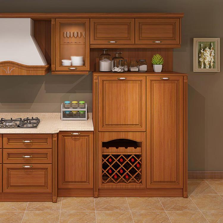 Solid Wood Custom Cabinet European Style Integral Kitchen Cabinet Door Drawer Base Cabinets Modern Graphic Design Drawer Slide Y R Furniture