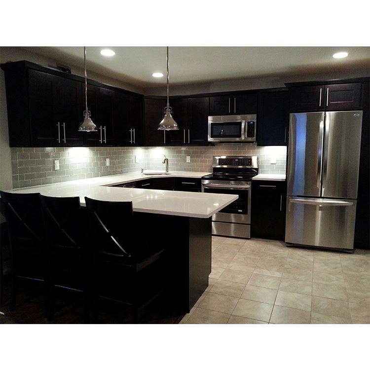 Luxury Kitchen Furniture Solid Wood Modern Commercial Classic Style Kitchen Cabinet Designs