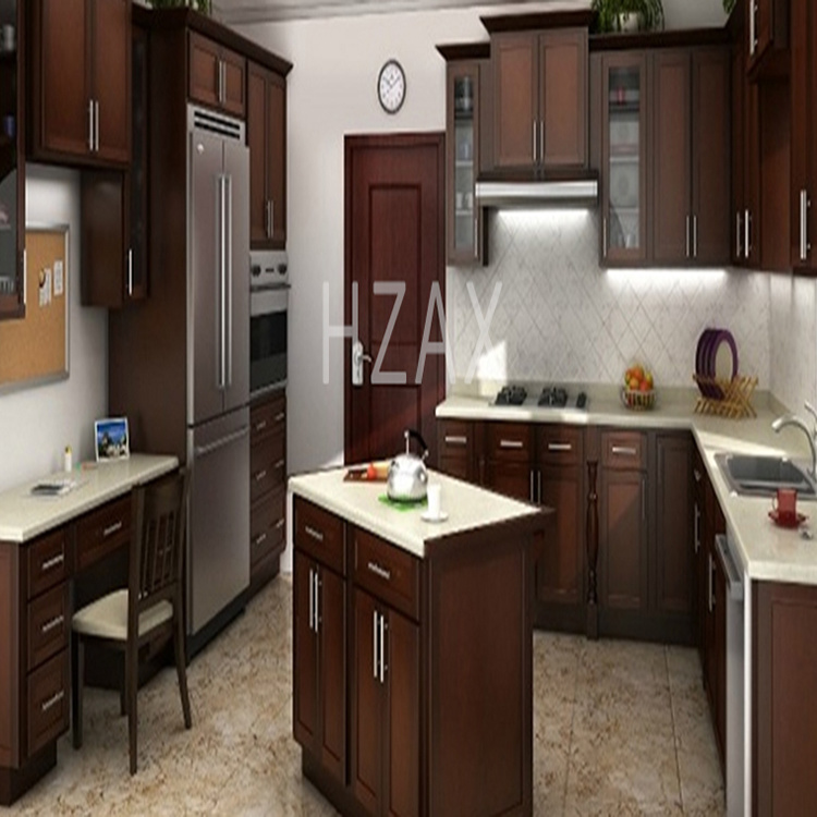 Classic and Temporary Solid Wood Popular American Style Kitchen Display Cabinet