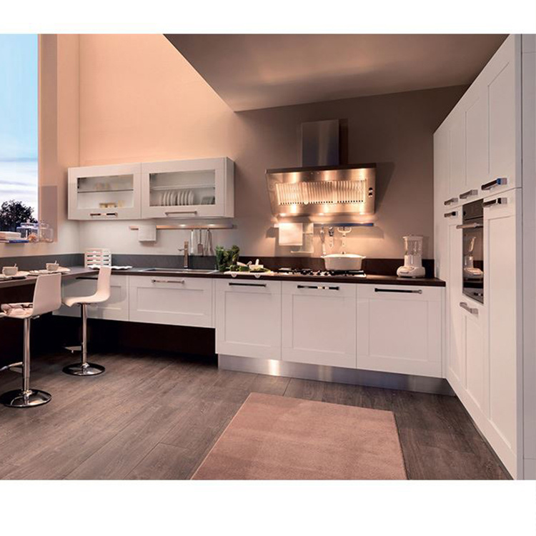 Customized Solid Wood Kitchen Cabinet Factory Modern Direct Sale Low Price Kitchen Cabinet