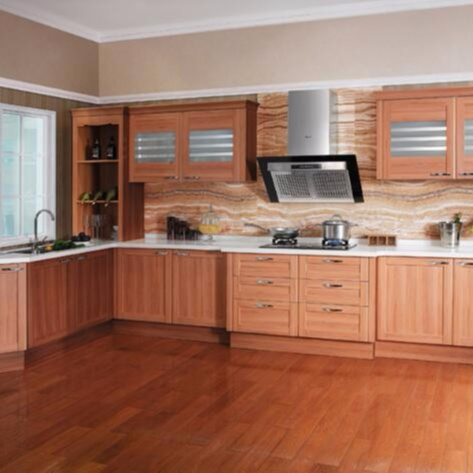Wholesale Modern Design Russian Natural Maple Solid Wood Kitchen Cabinet