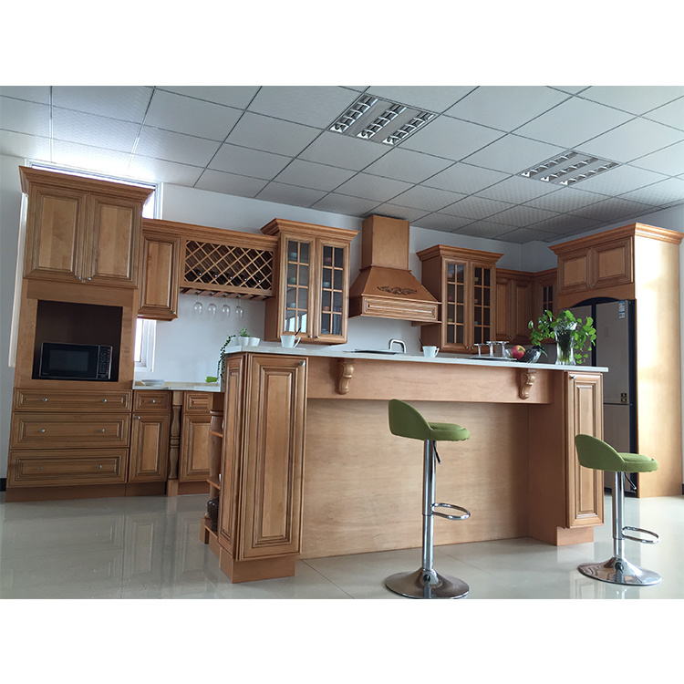 cheap new style modern kitchen cabinets solid wood cupboard cabinets