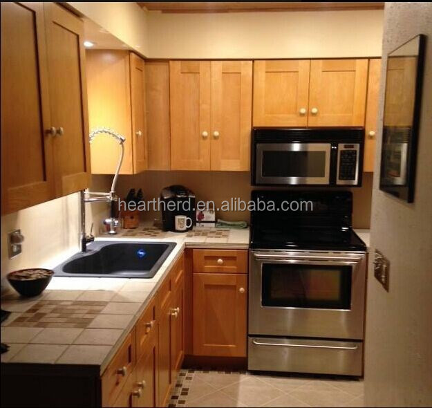 display apartmentmodern solid wood kitchen cabinet for sale