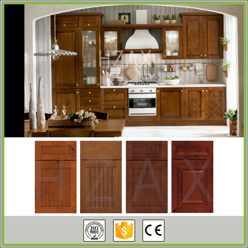 Latest wooden furniture designs kitchen wall hanging cabinets solid wood