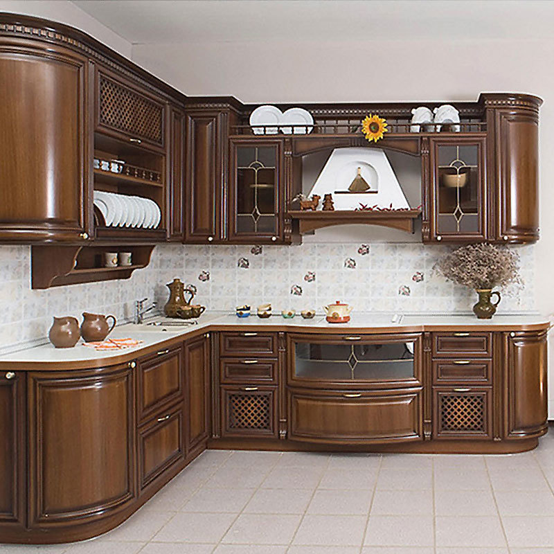 American style home cabinets custom-made solid wood kitchen cabinets cupboard