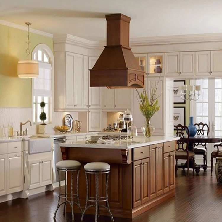 New Designs Color Combination Solid Wooden Furniture Kitchen Cabinet