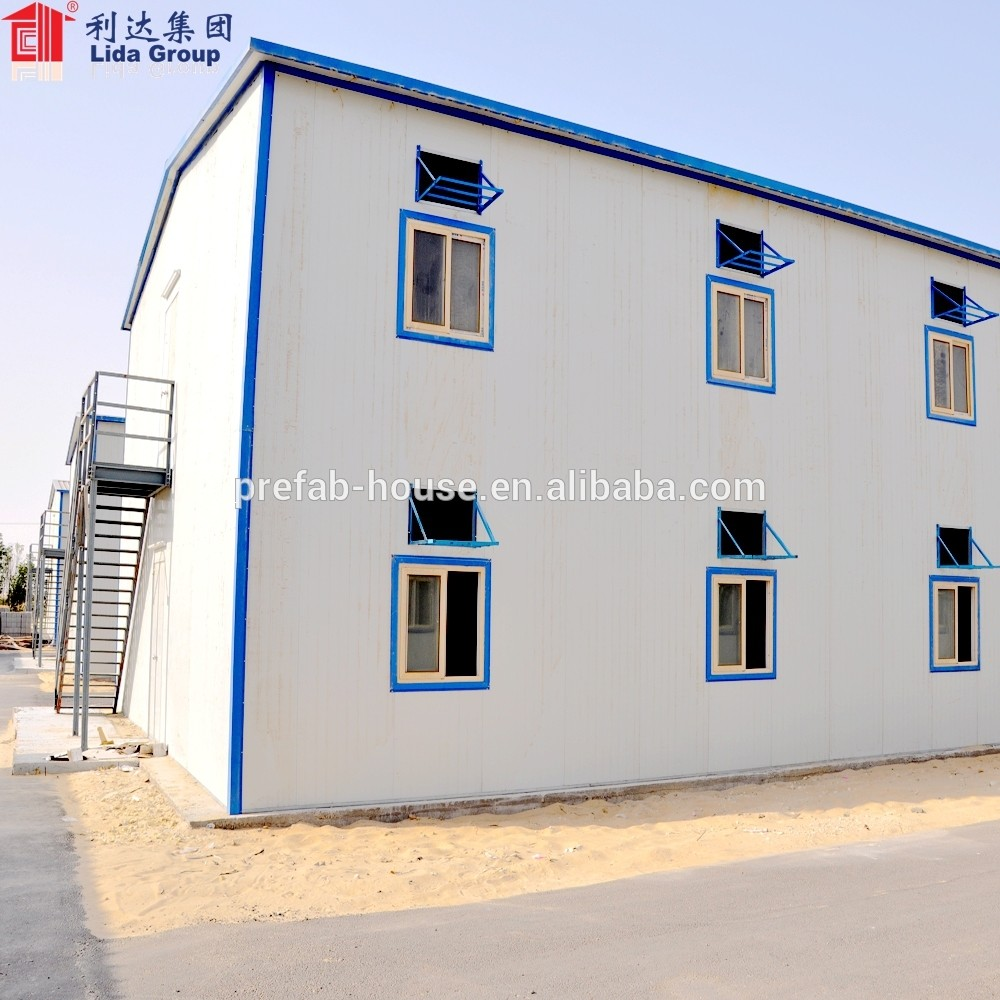 SGS certificated prefab house temporary laborers camp