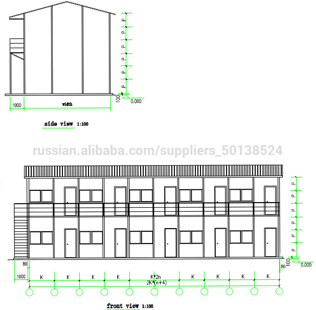 2019 Bangladesh prefabricated mobile house for labor camp accommodation/ hotel /office