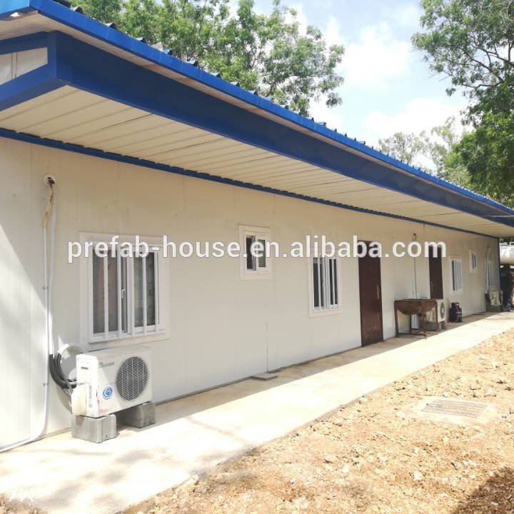 prefab camp house/prefabricated home kits/insulated prefab workers homes