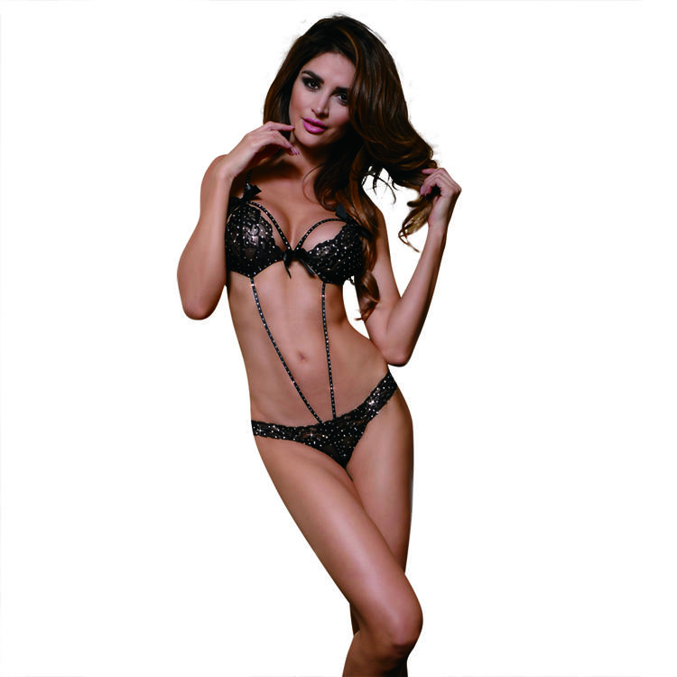 Hot Mature lady Sexy Underwear full cover lace teddy with hook&eye back and crotchless g strings sexy micro teddy lingerie