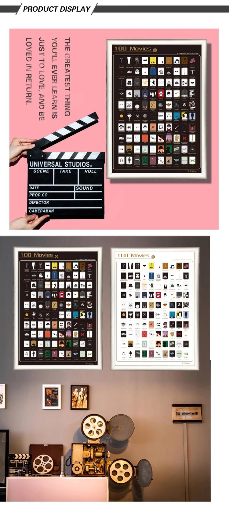 product-Dezheng-OFF Customized scratch poster 100 movies 100 books 100 things bucket list with tube--1