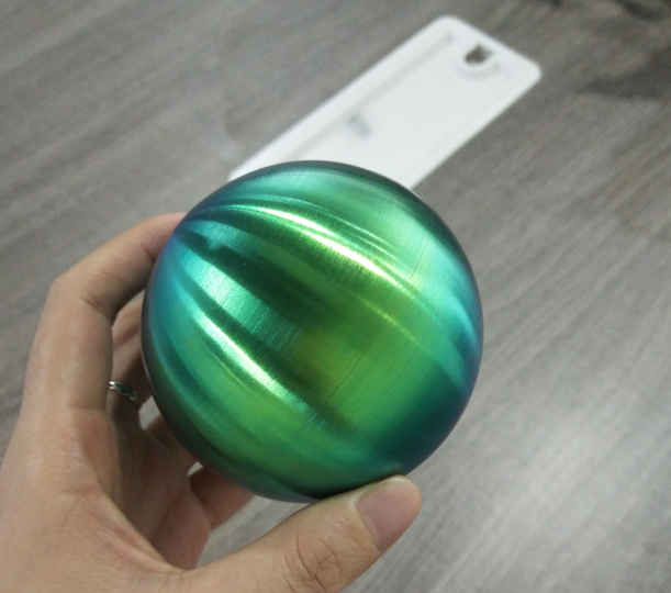 80MM Brushed Stainless Steel Hollow Ball Sphere Rainbow Color