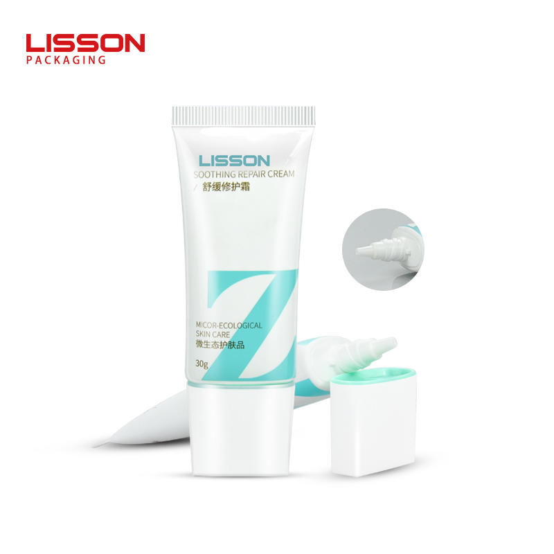 30ml OEM empty makeup sunscreen cream tube packaging with screw cap