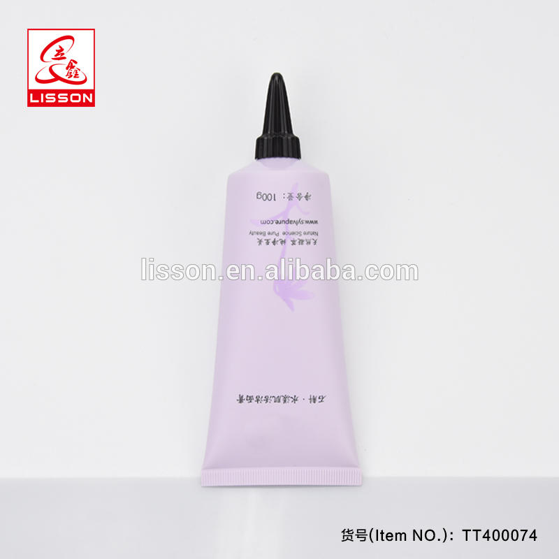 100ml Clear Long Nozzle Cosmetic Plastic Tube With Long Nozzle Screw Cap