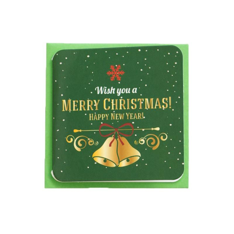 Green Custom Funny Christmas Gift Card Envelope Thank You Cards