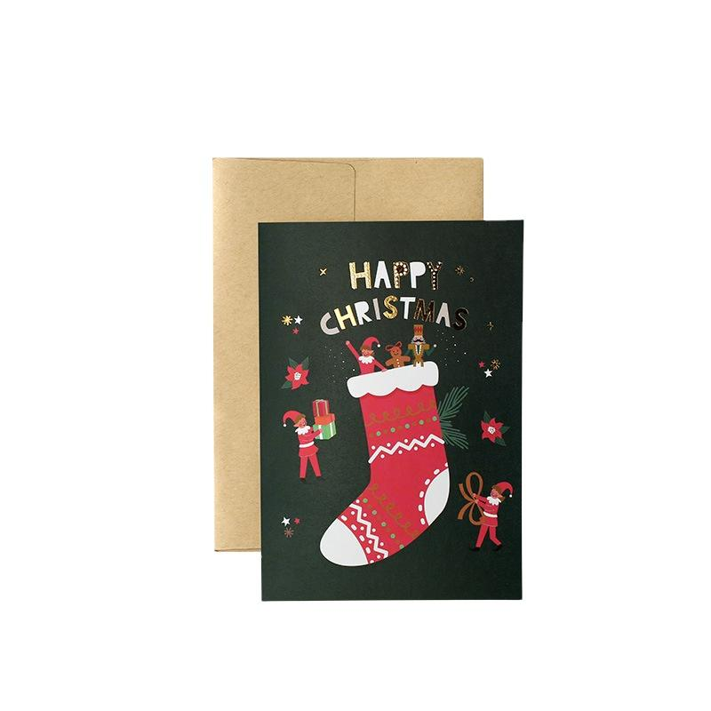 Cheap Price Thank You Greeting Cards Custom With Logo Christmas Cards