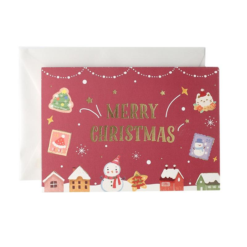 4x6 Pretty Christmas Greeting Cards Blank Thank You Cards Eco Friendly Paper
