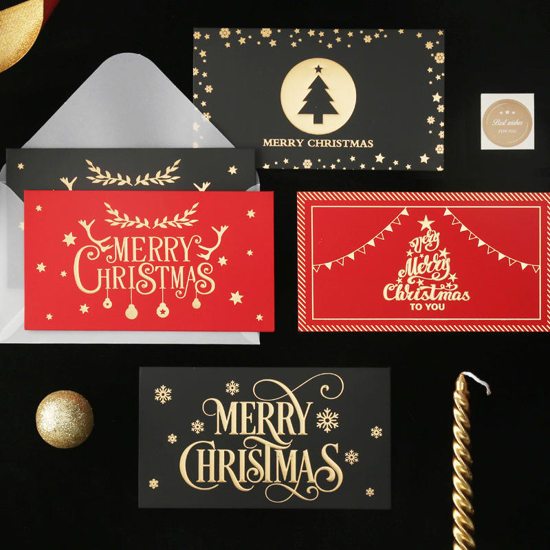 product-Dezheng-Gold stamping Quilling Christmas Prints Gift And Greetings Cards Thank You Cards-img-4