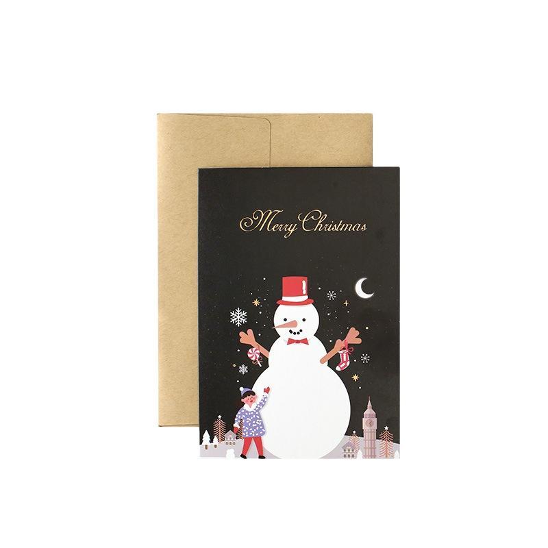Luxury Christmas Greeting Thank You Card Custom Printing Service Cards