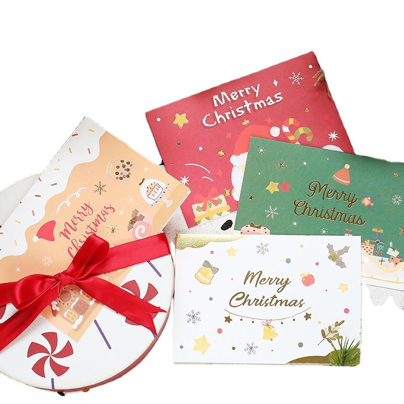 Happy New Year Greeting Christmas Jewelry Packaging Cards Personalized Thank You Cards For Customers