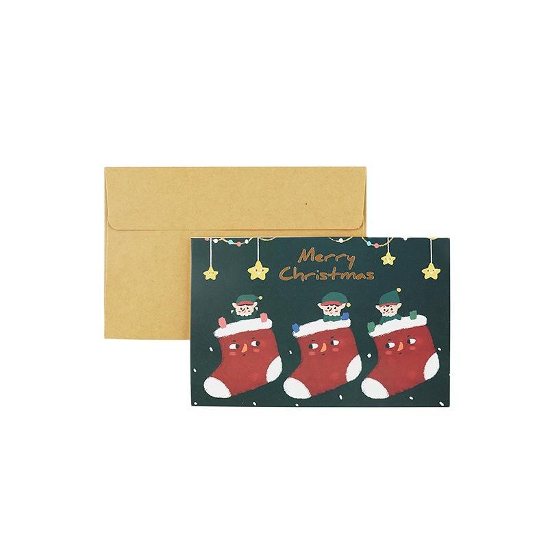 Hot Sale Custom 2020 New Year Gift Card Custom ChristmasEnvelope Cards