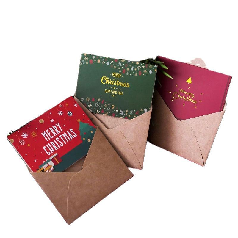 Hot Sale Custom Christmas Decoration Supplies Gift Sets Christmas Greeting Cards
