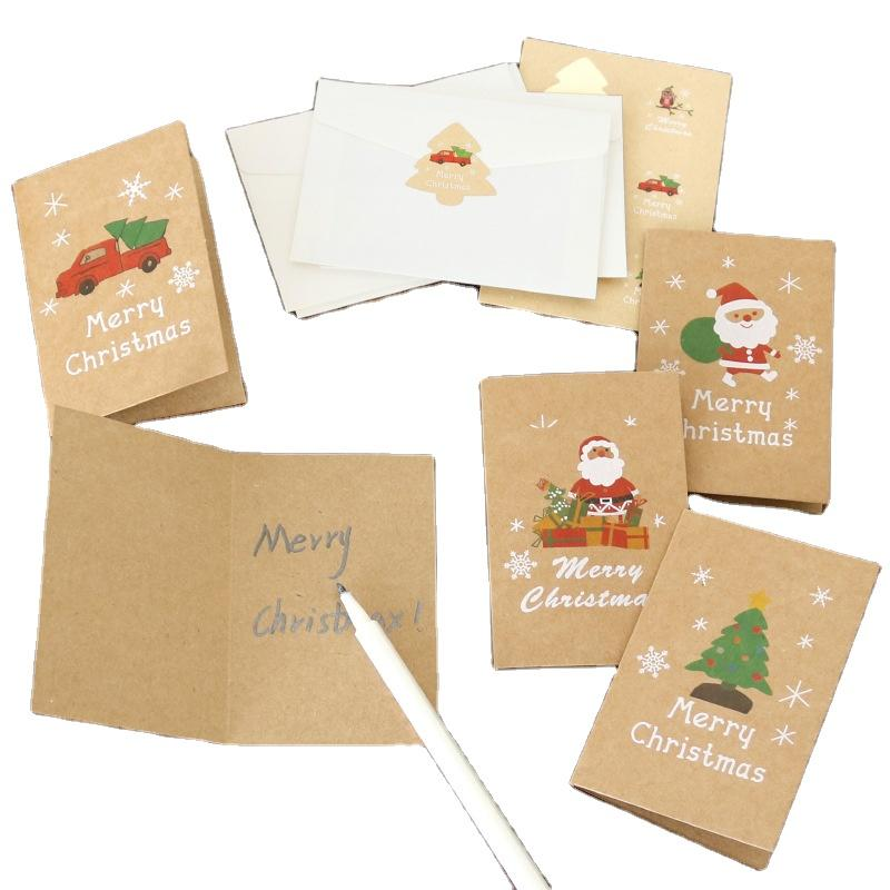 High Quality Discount Price Custom Christmas Tree Decoration Gift Christmas Cards