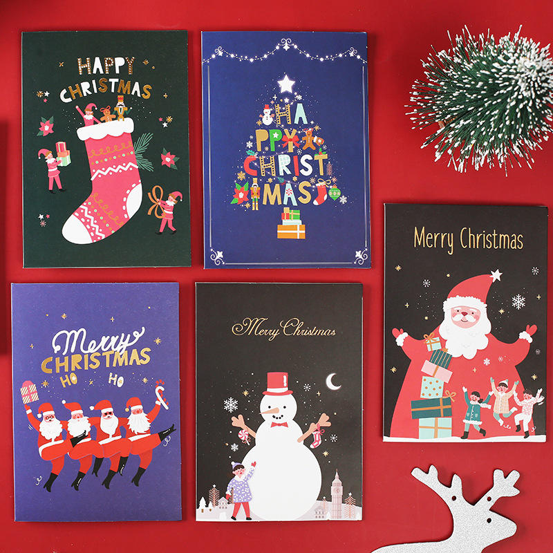 product-Dezheng-Luxury Christmas Greeting Thank You Card Custom Printing Service Cards-img-1