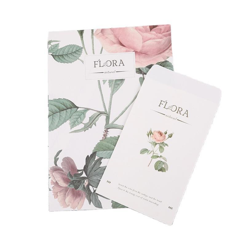 Blank Thank You Card Insert Kraft White Cards Deck Set For Custom Design Pink Packaging Envelopes