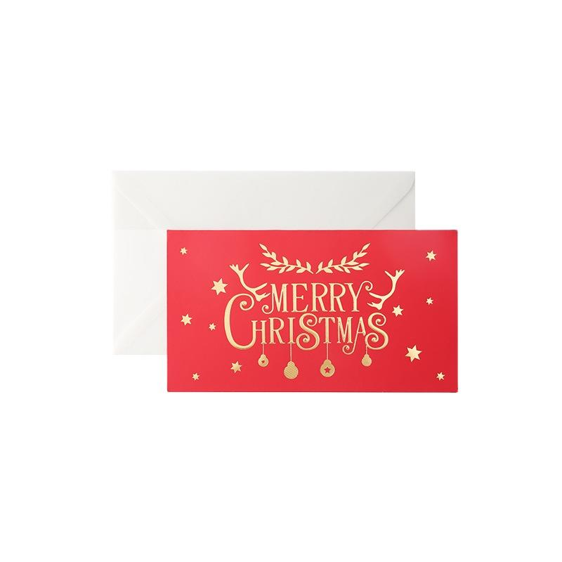 Beautifully Christmas DIY Thank You Card Insert Gift Foil Custom Greeting Cards