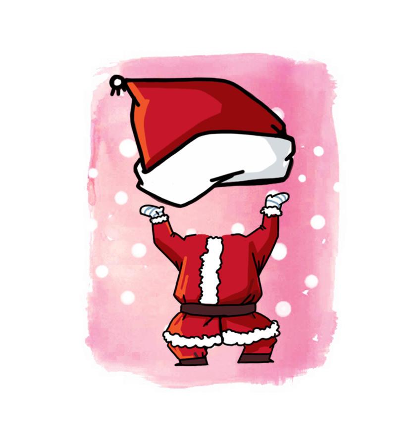 Hot Greeting Cards Santa Claus Costume Printed Custom Merry Christmas Cards