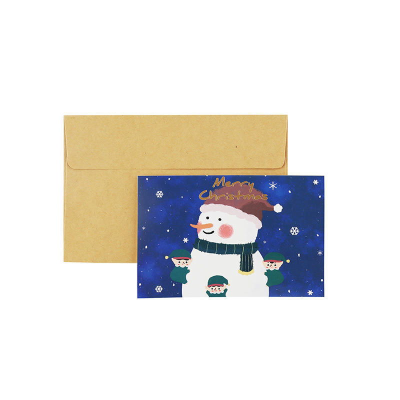 product-Dezheng-Custom Small Size 2020 Christmas Card New Year Gift Greeting Card Printing-img-1