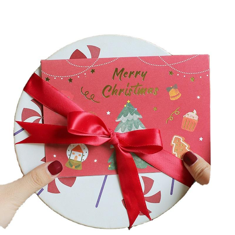 Personalized Christmas Thank You Cards Logo Cardboard Display For Greeting Card