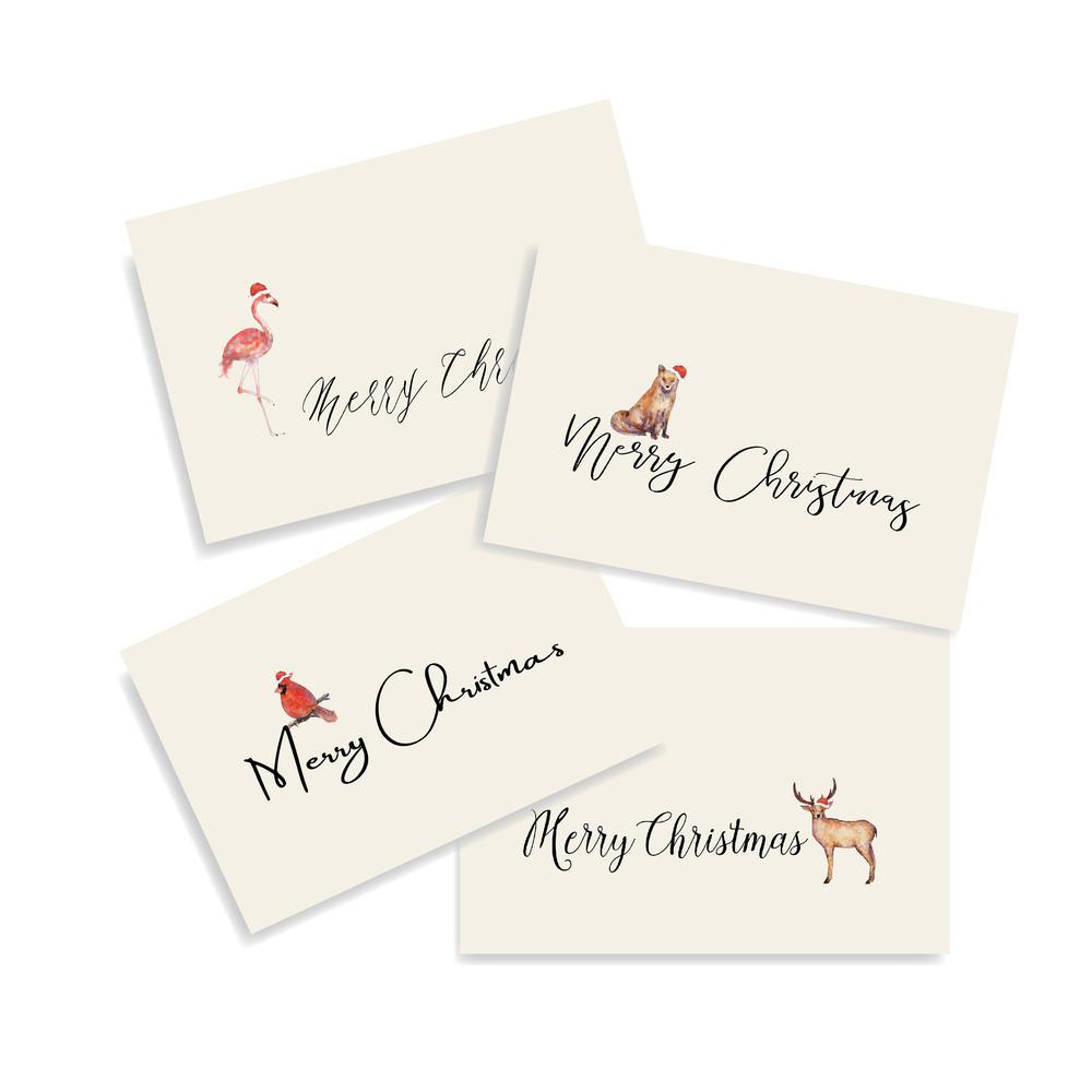 Multi Design Creative Animal Pattern Custom Christmas Greetings Cards