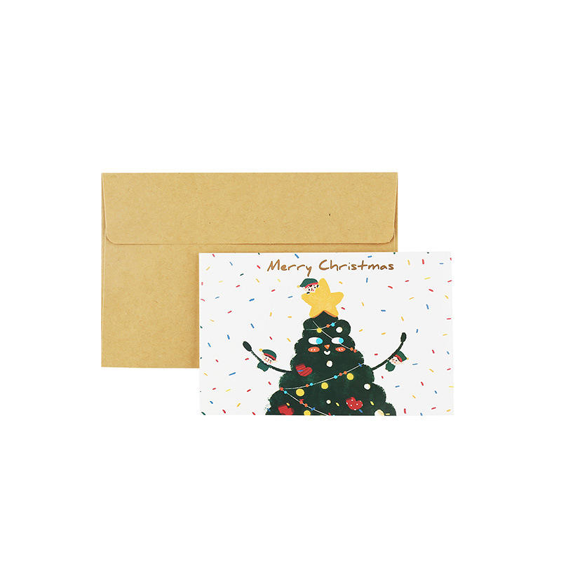 product-Dezheng-New Year Corporate Gifts Christmas Greeting Card Thank You Business Card-img-1